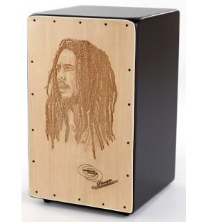 Cajon Flamenco Bob Marley + Funda: Media Luna Percusion