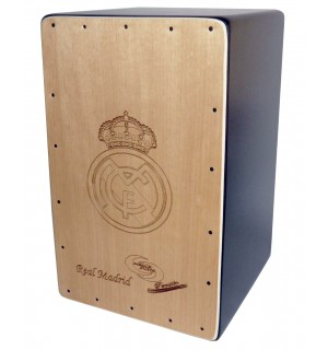 Cajon Rumbero Grabado Madrid + Funda: Media Luna Percusion