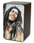Cajon Flamenco Bob Marley + Funda: Media Luna Percusion