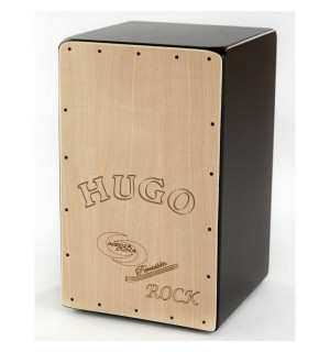 Cajon Flamenco Rock Con Nombre Media Luna Percusion