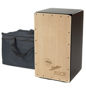 Cajon Flamenco Rock + Funda: Media Luna Percusion