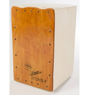 Cajon Flamenco Rumba Naranja + Funda: Media Luna Percusion